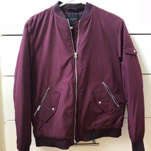 Zara (Trafaluc) Maroon Bomber Jacket